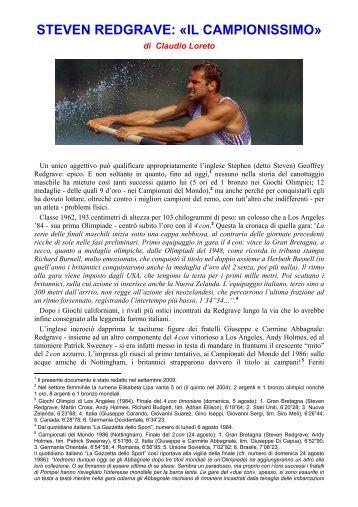 STEVEN REDGRAVE: «IL CAMPIONISSIMO» - inforMARE