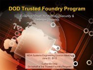 DOD Trusted Foundry Program - National Defense Industrial ...