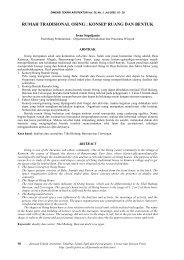 RUMAH TRADISIONAL OSING : KONSEP RUANG ... - Puslit Petra