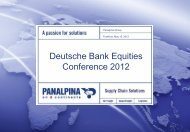 Deutsche Bank Equities Conference 2012 - Panalpina
