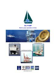 SILI PUMP - Marine pumps specialist in China