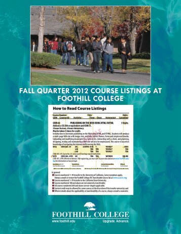 fall quarter 2012 courses - Foothill College