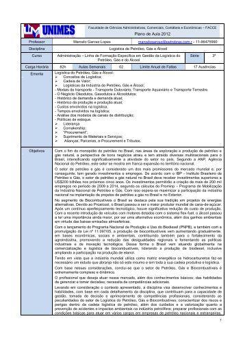 Plano de Aula 2012 - Unimes