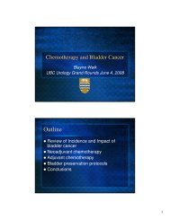 Chemotherapy and Bladder Cancer - Urology Rounds