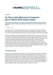 Un Parco della Memoria in Campania per le vittime delle stragi naziste