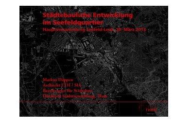 Hauptversammlung Seefeld-Leist 2013 - Thun