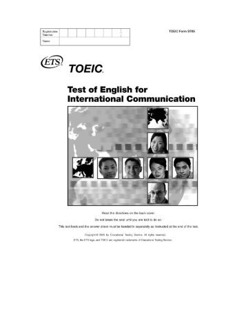 Test of English for International Communication TOEIC Test