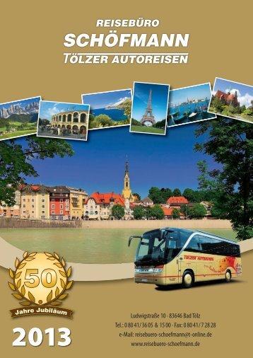 Katalog 2013 - reisebuero-schoefmann.de