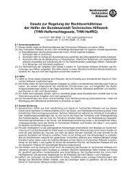 THW-Helferrechtsgesetz (THW-HelfRG) vom 17.12.1997 - THW-Bogen