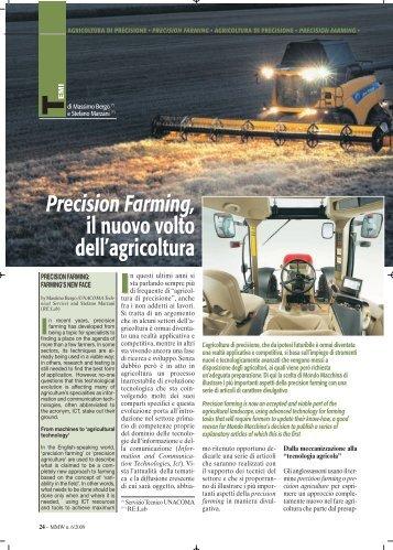 Precision Farming, il nuovo volto dell'agricoltura - FederUnacoma