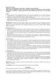 Deliberazione Giunta Regionale 4 aprile 2008, n.349 - Itaca