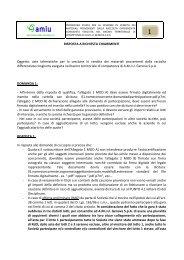 RISPOSTA A RICHIESTA CHIARIMENTI Oggetto: aste telematiche ...