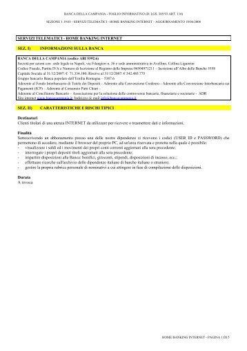 Portale Servizi Telematici Vantaggio Banco Popolare