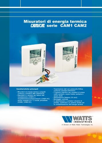 scheda Camical - Watts Industries