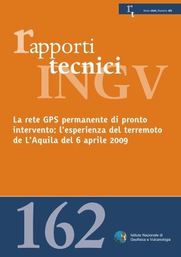 La rete GPS permanente di pronto intervento - L'Istituto - Istituto ...