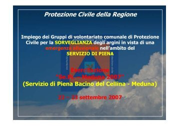 SePi_Meduna2007_presentazione - Protezione Civile
