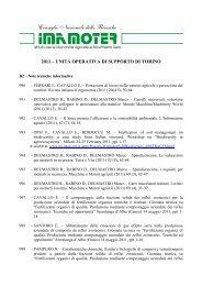 2011 – unitá operativa di supporto di torino - Imamoter - Cnr