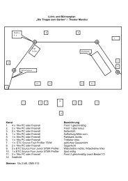 Technisches Beiblatt - Die Treppe zum Garten - Theater Marabu