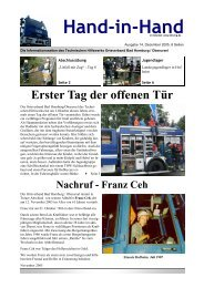 Hand-in-Hand, Ausgabe 14 - THW OV Bad Homburg / Oberursel