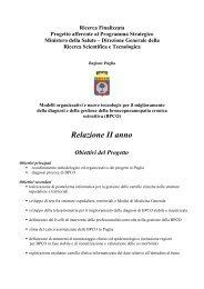 Regione Puglia - BPCO - Progetto strategico