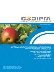 DIFESA ASSICURATIVA AGRICOLA AGEVOLATA 2010 - codipra