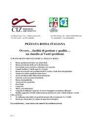 PEZZATA ROSSA ITALIANA Ovvero….facilità di gestione e ... - Ciz