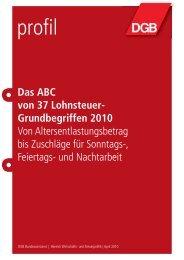 Das ABC von 37 Lohnsteuer- Grundbegriffen 2010 - DGB ...