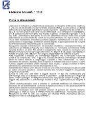 PROBLEM SOLVING 1 2012 Visita in allevamento - Formazione ...