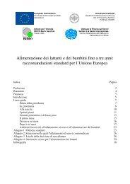 Alimentazione dei lattanti e dei bambini fino a tre anni - International ...