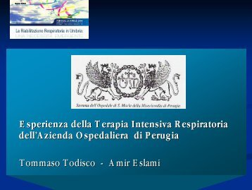 Svezzamento dal ventilatore - Regione Umbria