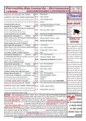 San Leonardo Calendario.Prefazio Magazines