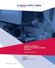 ¿Mejores maestros? Balance de políticas docentes 2010-2011 Ricardo Cuenca P.