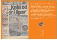 Die Hamburger Morgenpost schrieb damals... im August 1995