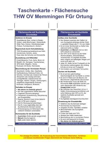 Visio-Taschenkarte - Flächensuche v6.VSD - THW Memmingen