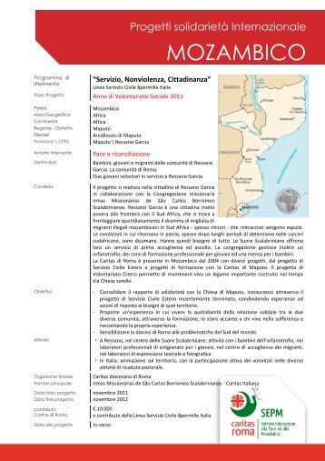 MOZAMBICO - Caritas Roma