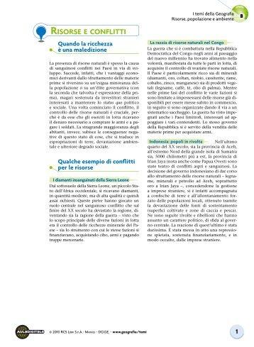 RISORSE E CONFLITTI - Aula Digitale