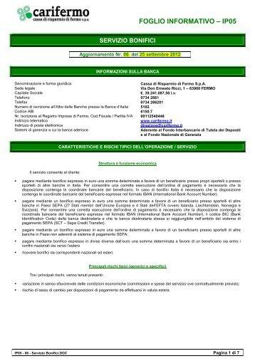 IP05 - 06 - Servizio Bonifici - CariFermo