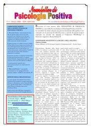 Newsletter di Psicologia Positiva - Società Italiana di Psicologia ...