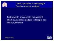 Trattamento appropriato dei pazienti affetti da sclerosi ... - ASL Viterbo