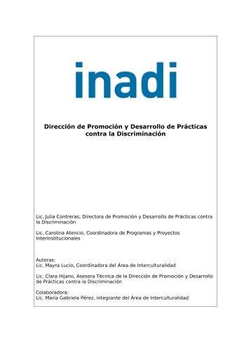 informe técnico - Inadi