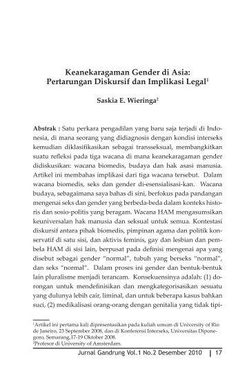 Keanekaragaman Gender di Asia: Pertarungan ... - kathleen azali