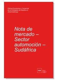 Nota de mercado – Sector automoción – Sudáfrica