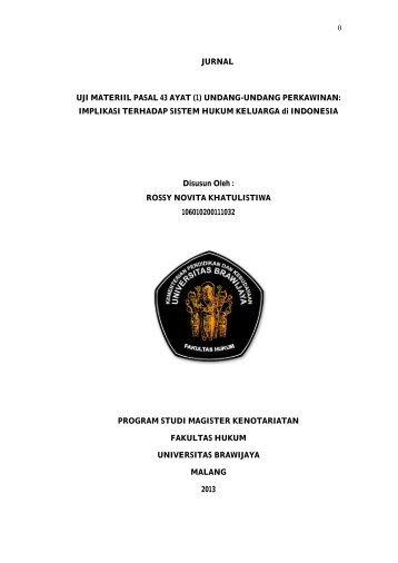 (1) UNDANG-UNDANG PERKAWINAN - Hukum UB - Universitas ...