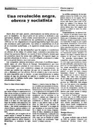 Una revolución negra. obrera y socialista