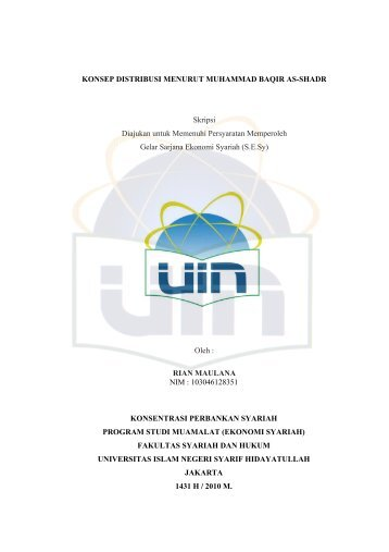 MOTTO DAN PERSEMBAHAN - Institutional Repository UIN Syarif ...