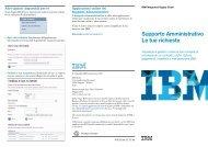 Supporto Amministrativo Le tue richieste - IBM