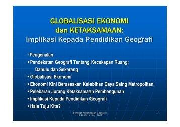 GLOBALISASI EKONOMI dan KETAKSAMAAN: Implikasi Kepada ...