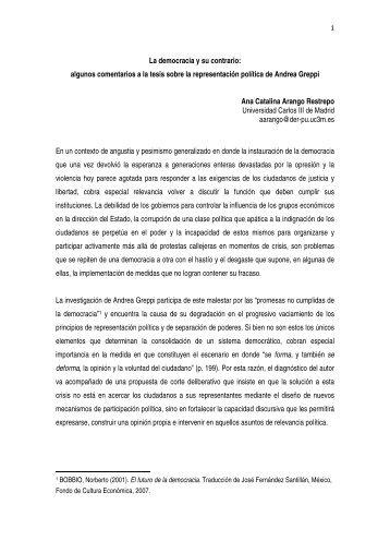 La democracia y su contrario: algunos comentarios a la ... - Trust-CM