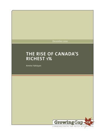 THE RISE OF CANADA'S RICHEST 1%
