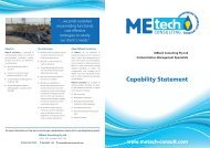 DOWNLOAD Capability Statement - MEtech Consulting